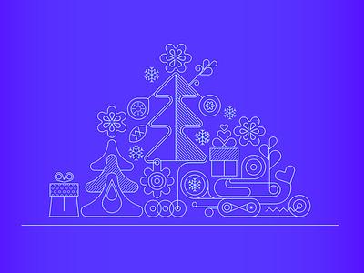Christmas line art snowflake gift box xmas holidays vector artwork vector art vector blue graphic illustraion new year christmas tree linework linear line art christmas