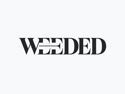 WEEDED logo logo typography branding graphic design