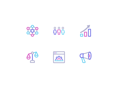 Icons for Macro's use cases saas b2b iconography ui icon