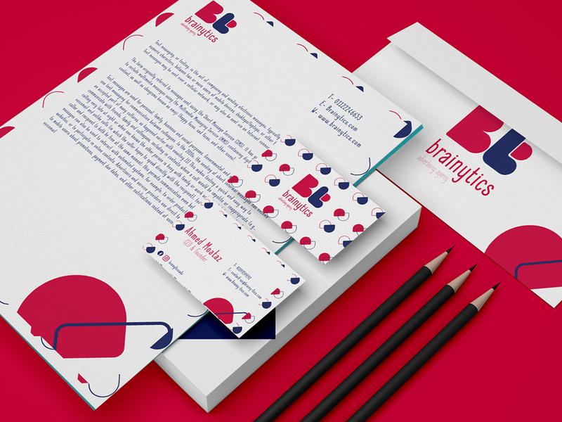 Brainytics Advertising Agency brand identity illustrator branding brand identity logo ui vector illustration design