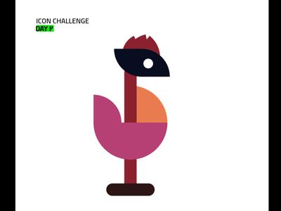 Rooster #1 character brand identity icon branding logo illustrator vector ui design illustration