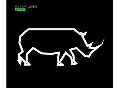 Rhino #3 rhinoceros rhino icon brand identity branding logo illustrator ui vector design illustration