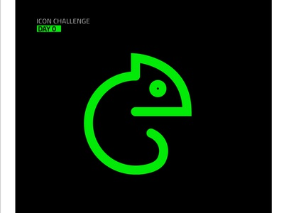 Chameleon #1 icon animation cartoon brand identity branding logo illustrator ui vector design illustration
