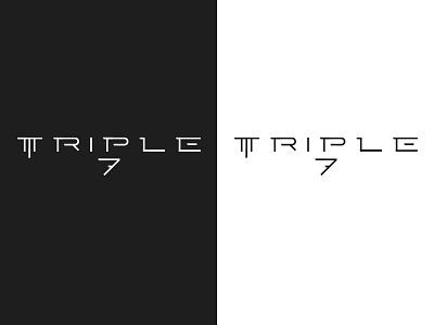 Triple 7 brand identity branding illustrator design illustration