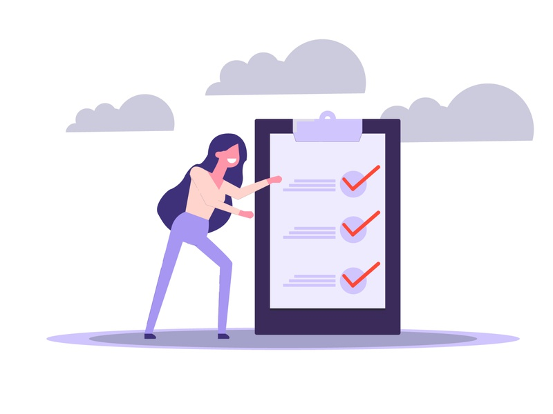 business woman flat animation icon ux socialmedia illustrator ui vector illustration design