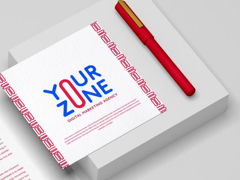 YourZone | Digital Marketing Agency illustrator branding logo brand identity vector illustration design