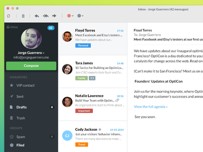 Simple Email concept app
