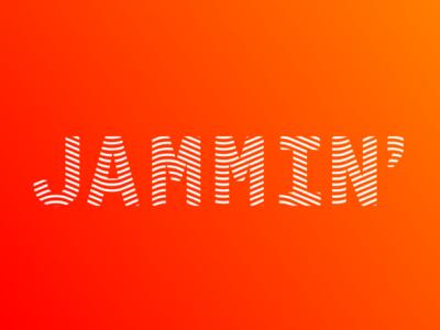 Groovy Jam gradient poster jamming jammin mask lines groovy exploration font