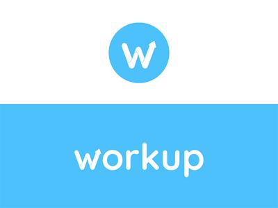 workup brand identity exploration flat minimal fresh blue color colour icon design logo identity brand