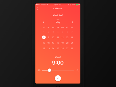 Cleanzy - Custom Date Picker ux ui answer question on demand demand maid clean cleaning android ios mutlubiev