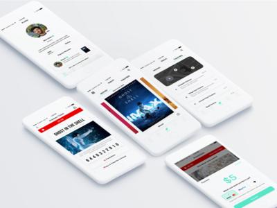 Sinemia App Redesign theatre movies ticket movie cinema startup sinemia