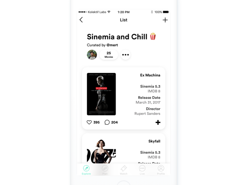 Movie Lists - Sinemia (and Chill) by Mert Erdir | Dribbble | Dribbble