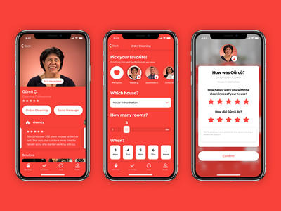 Cleanzy 2.0 - Gürcü 💖 (known as Mutlubiev in Turkey) service order blur stars review profile cleaner design app cleaning