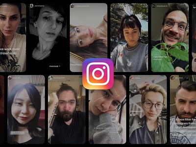 Instagram Face Filter - Kintsugi selfie design facebook virtual 3d mesh filter mask face reality augmented ar spark instagram