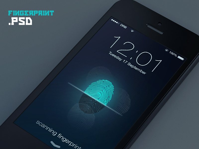 Fingerprints (PSD) iphone iphone 5s fingerprint psd scan home unlock ios