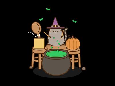 Pusheen on Drums