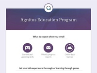 Agnitus Education Program