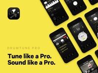 Made by drummers, for drummers marketing ios mobile tune music ui drummer drums branding