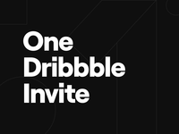 Dribbble Invite Giveaway giveaway ecommerce webdesign mobile app ui  ux portfolio dribbble invite invite illustration typefaces