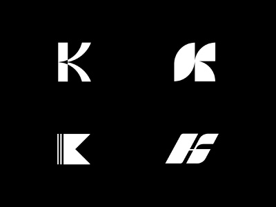 K logo exploration lettermark typogaphy alphabet logo letter logodesign mark brand black  white monogram k logo