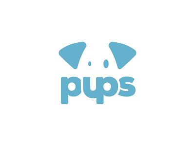 Logo Challenge #15 brand blue pets design logochallenge challenge logo pups thirtylogos