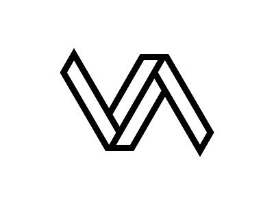 Vitesse Angulaire modern logo grid lines challenge physic mathematical museum va logodesign