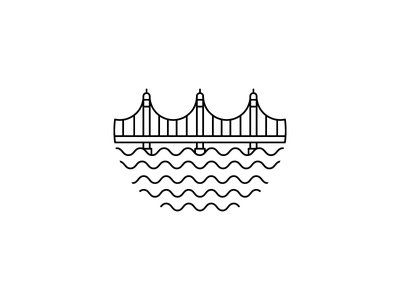 bridge brand branding mark water logodesign cityscape city bridges bridge logo