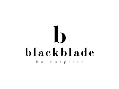 blackblade hairstylist logo blackletter hairstylist hairsalon hairstyle simple typography branding brand mark design logodesign logo