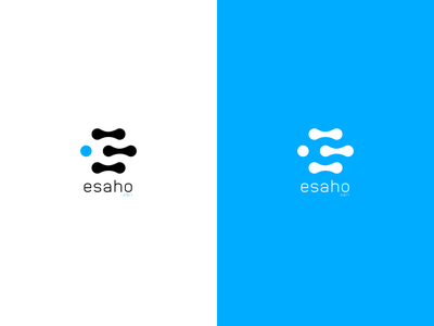 esaho logo logodesign technology color branding startup esaho simple process information it brand mark design logo