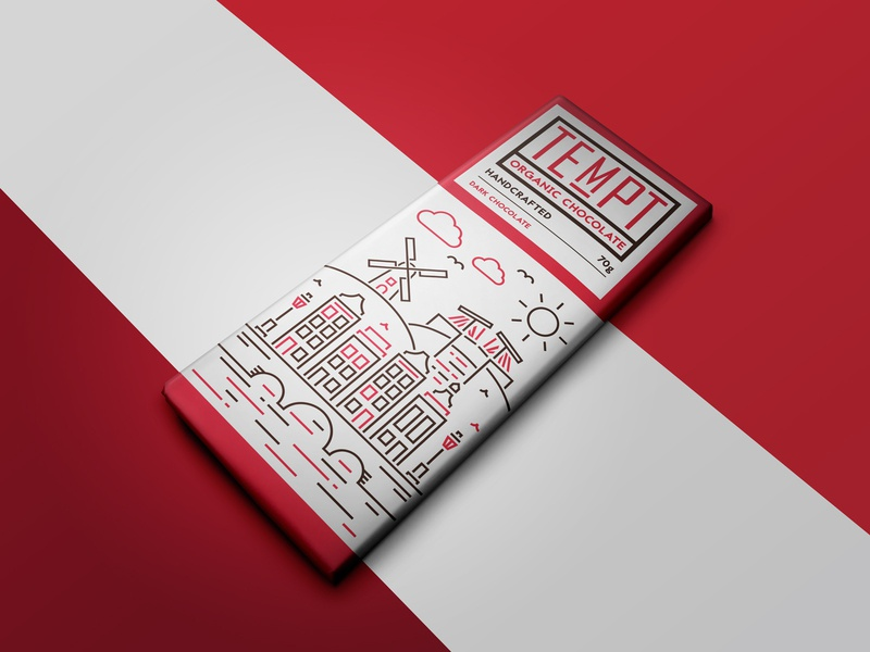 Tempt Chocolate - Branding packaging design packaging package logo design logo branding design branding brand sketch drawing illustrator illustration graphic design graphicdesign design artwork art