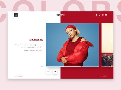 Colors Studios - Mahalia header landing page music hip hop clean minimal colors berlin colors