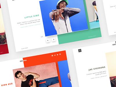 Colors Studios header landing page music hip hop clean minimal colors berlin colors