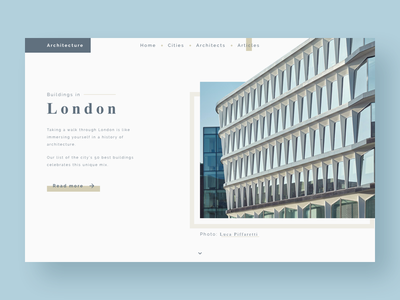 Architecture bulding clean minimal landing page header architecture