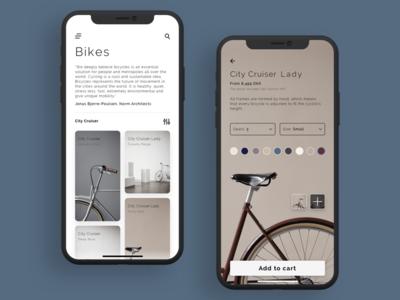 Copenhagen Bike Company pastel colours iphonex bikes minimal clean