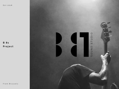 B81 dark music logo brand clean minimal