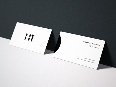 B81 - Business Card band clean brand minimal business card logo music