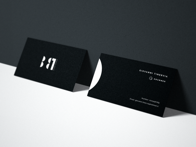 B81 - Business Card branding logo busines card typography minimal clean band