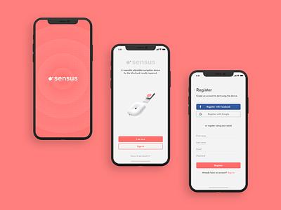 Sensus app clean minimal iphonexs sign in login splashscreen ux ui  ux ui branding blindpeople