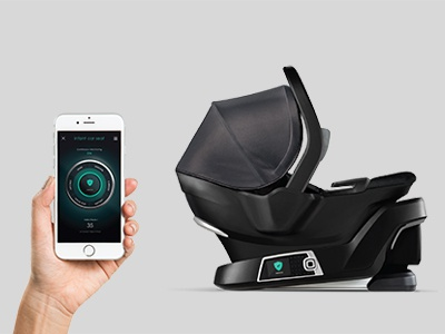 Infant car seat interface + mobile app