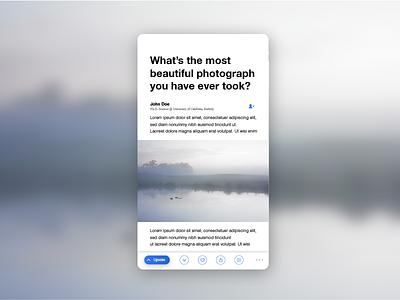Quora App Redesign - Answer uiux visual design quora redesign