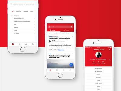 Quora App Redesign uiux concept quora product design
