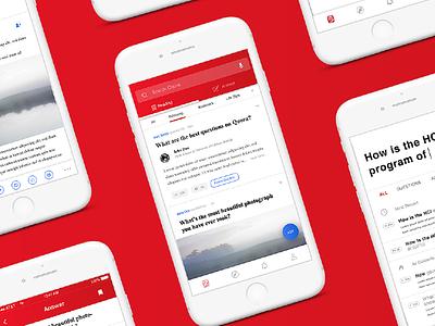 Quora Redesign  ux design interface design ui design app design