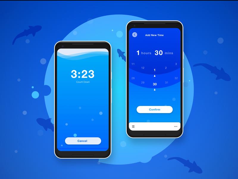 Little Jar of Time App timer illustration ui design