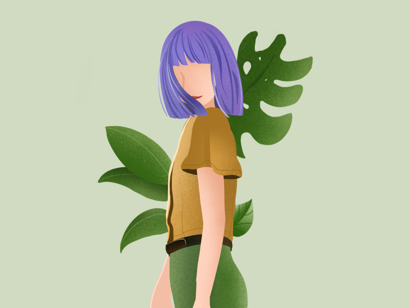 Look back and just smile :) visual design charactor ipad pro drawing procreate app green ipadart procreate illustration