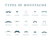 Types of Moustache