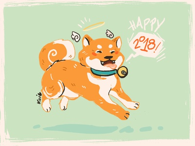 Dog Days illustration pup design 2018 dog new year lunar