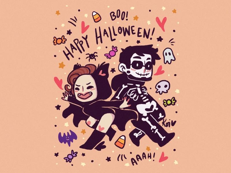 Happy All Hallows Eve! spooks cute art illustration halloween