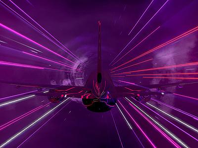 Bolder Creative - Virgin Airlines virgin airlines plane vibrant contemporary 3d mograph bolder creative we are bolder