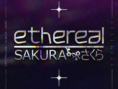 Ethereal Sakura - music cover art illustration typography icon