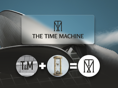 Time Machine logo vector design typography icon branding graphic design logo